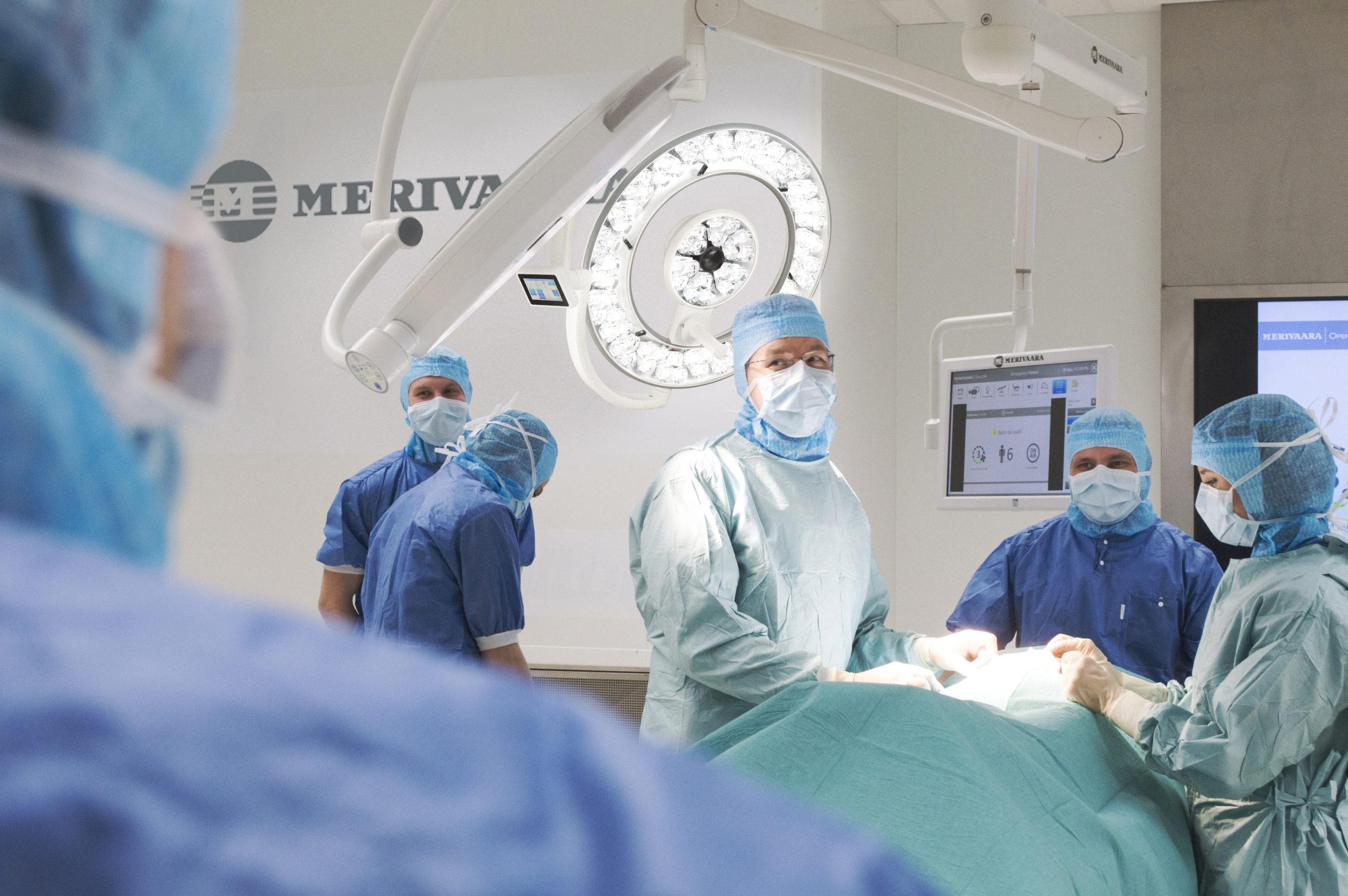 CASE: Integrated operating room system for Merivaara